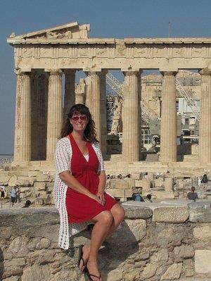 At he Parthenon