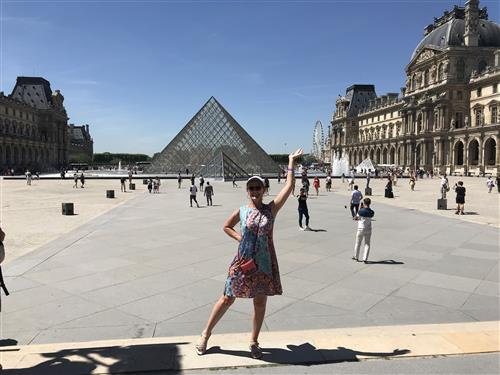 Mrs. Woodward at the Louvre